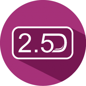 2.5 D Modelling Icon